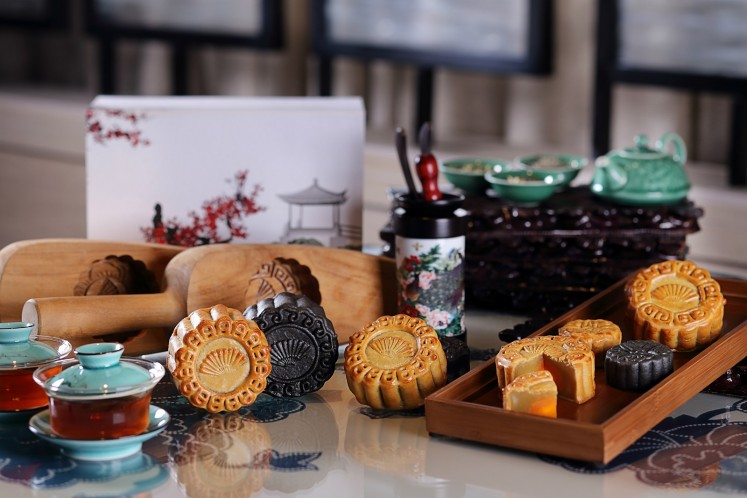 Mooncakes created by Li Feng at the Mandarin Oriental Jakarta.