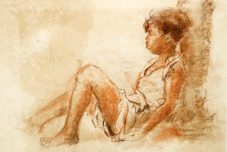 Melamun (Daydreaming) by Henk Ngantung