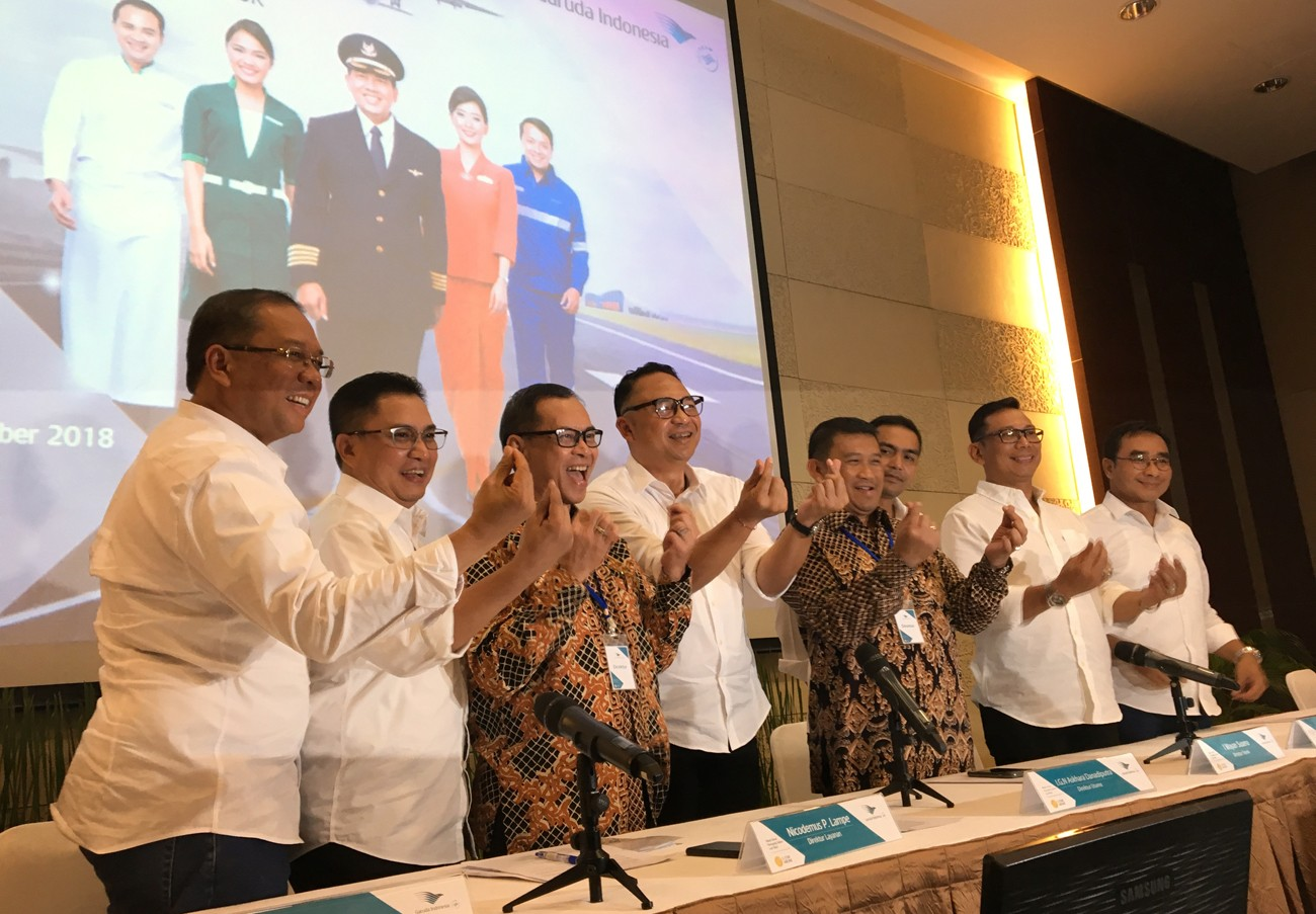 Garuda's new directors vow to focus on human capital transformation