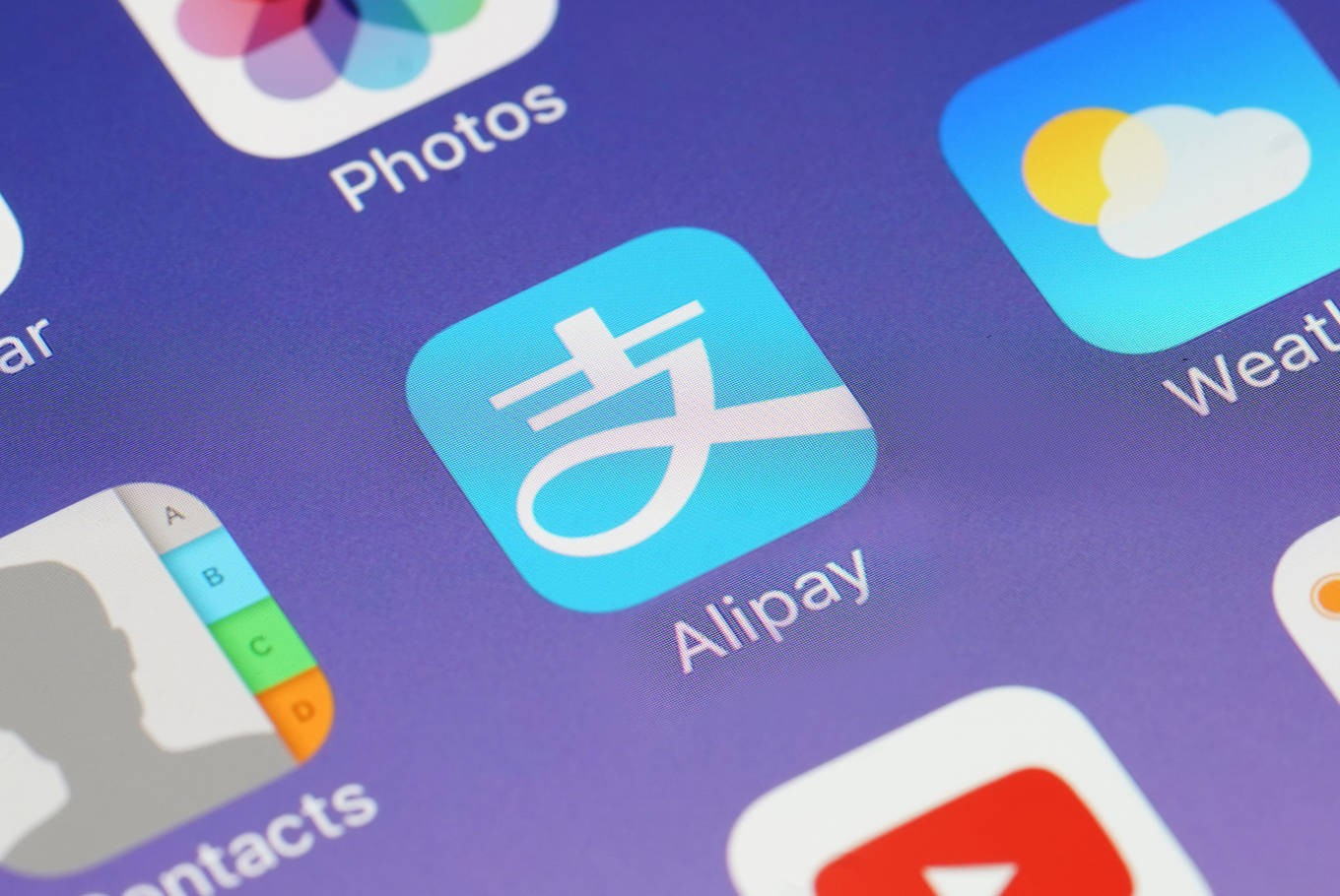 An illustration shows the smartphone menu icon for Alipay, a popular digital payment platform in China that is owned by the Alibaba Group. Image: Shutterstock.com/charnsitr