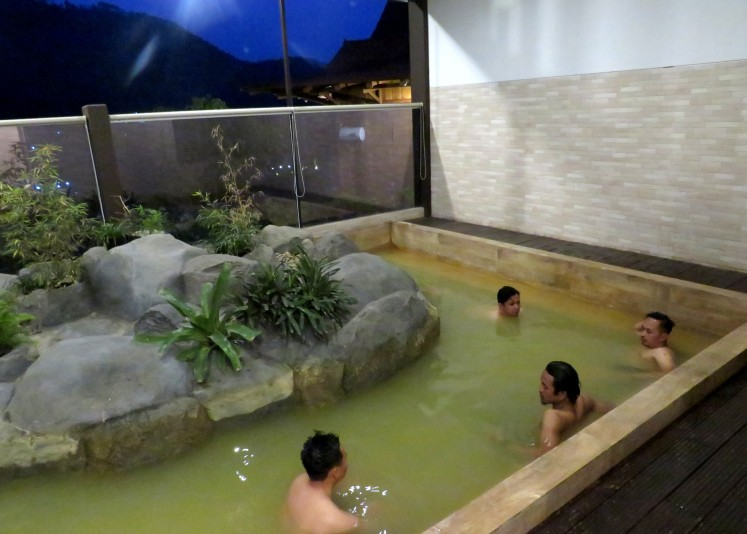 Genki Onsen in Batu, East Java, adopts a traditional Japanese 'onsen' concept.