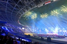 Thousands of people attend the 2018 Asian Games closing ceremony at Bung Karno Stadium. JP/Seto Wardhana