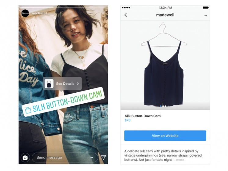 You can now shop directly from your favorite brand's Stories.