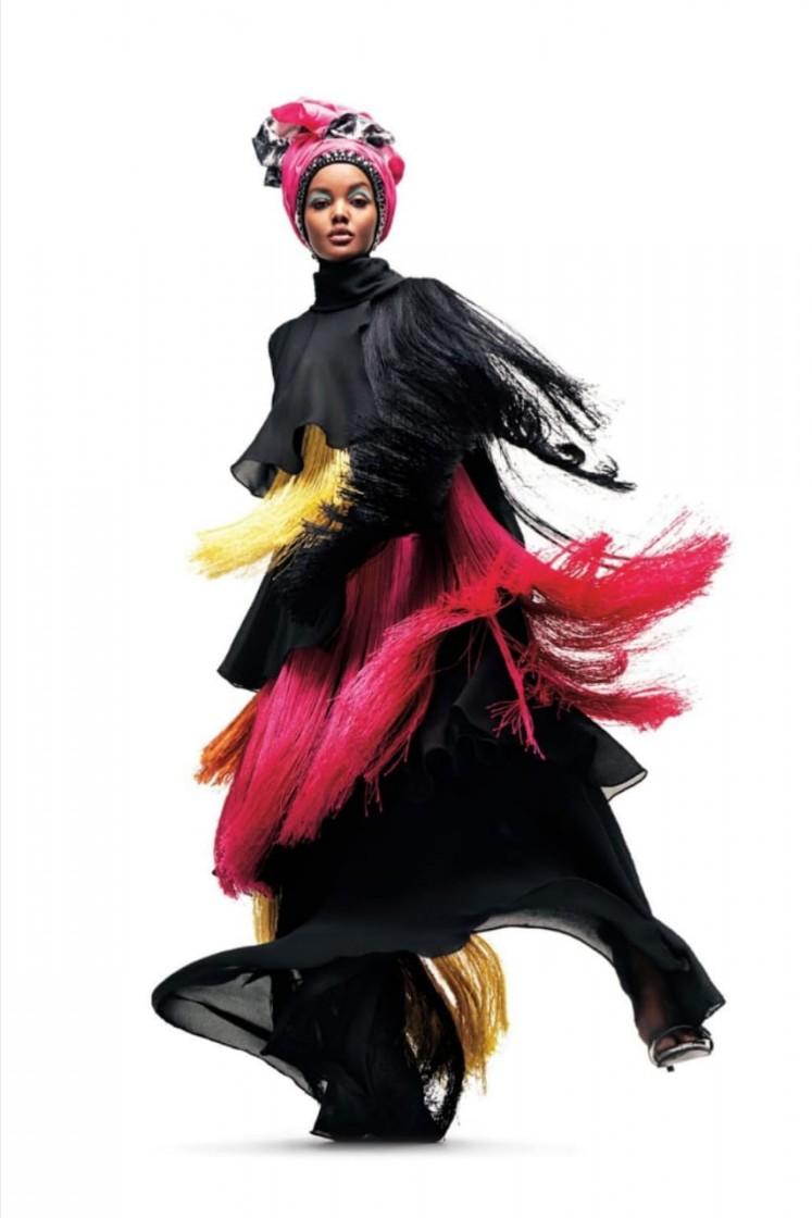 A fashion ensemble by Dian Pelangi