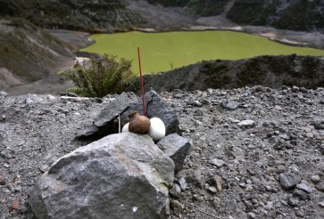 Warding off Lembu Sora's curse at Mt. Kelud crater