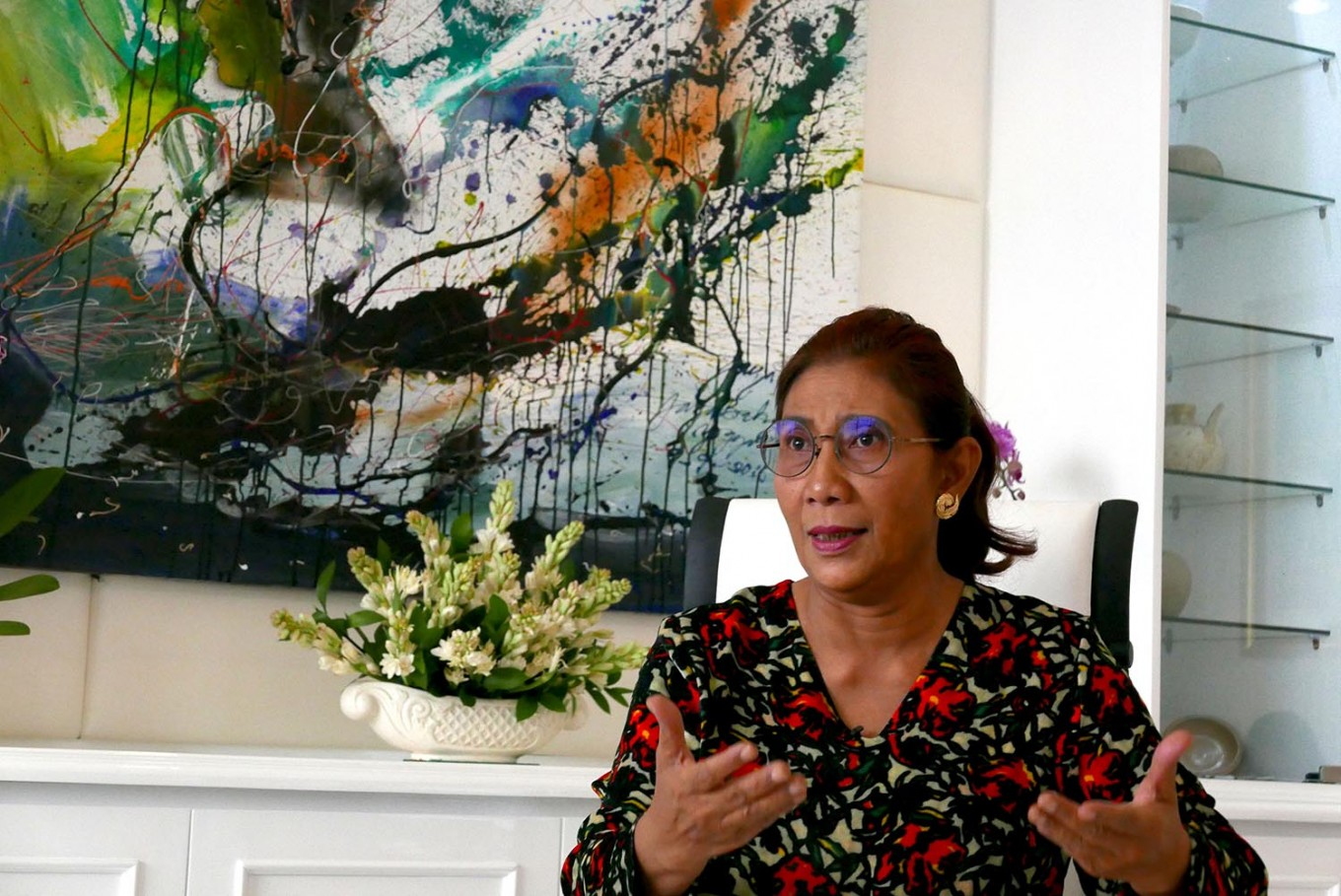 A peek into Susi Pudjiastuti's new eco-friendly shoes