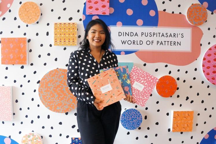 Indonesian illustrator Dinda Puspitasari during the launching of her visual arts books.
