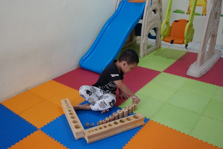 The owner of Little Elephant daycare has a formal background in Montessori, hence she applies the method in the program.