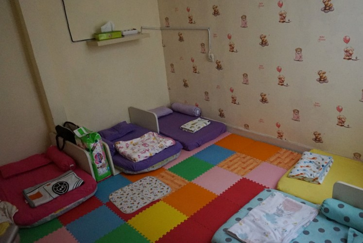 Happy Tree House's daycare baby bedroom.