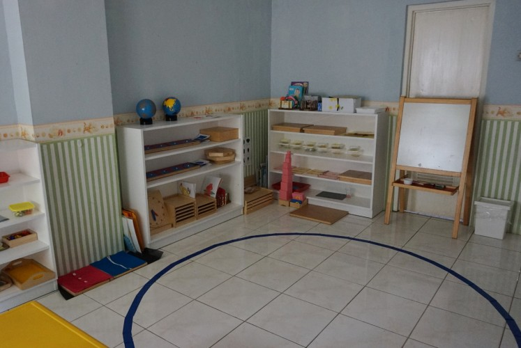Preschool classroom at LittleBee Montessori School and Daycare.