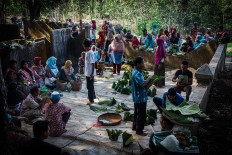 Villagers gather to start the ritual after the harvest at the Wonosadi customary forest. JP/Anggertimur Lanang Tinarbuko