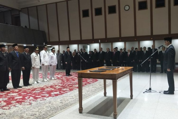 Anies proposes organizational changes within Jakarta administration