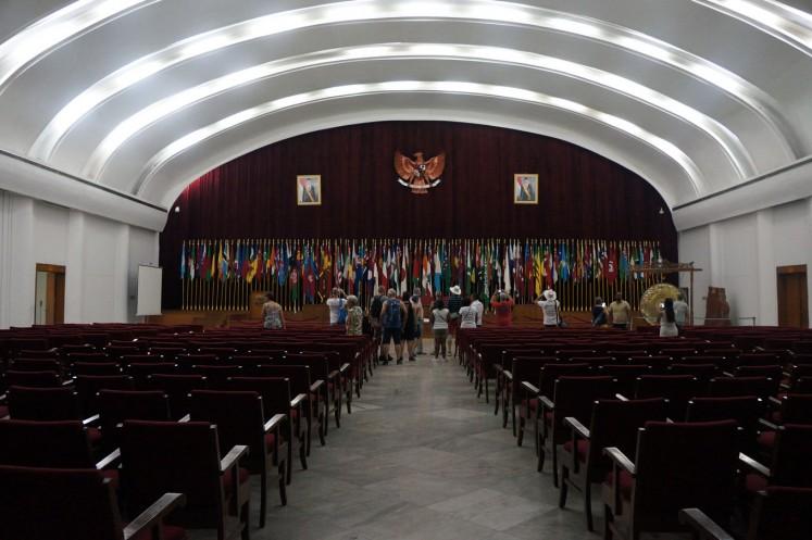 Inside Merdeka Building's main hall.