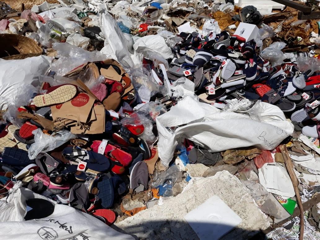 Wakai destroys fake goods with Bali Police