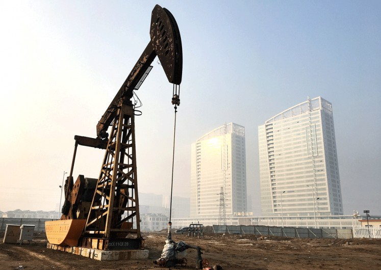A pumpjack is seen at the Sinopec-operated Shengli oil field in Dongying, Shandong province, China, in this file photo.