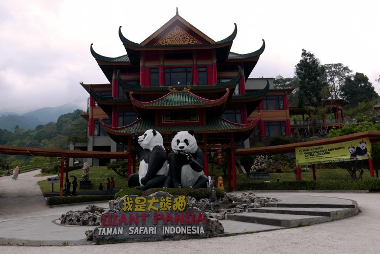The Panda Castle opened in 2017 and houses two popular pandas, Hu Chun and Cai Tao.
