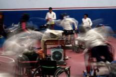 Wheelchair fencers train prior to the Asian Para Games. JP/Maksum Nur Fauzan