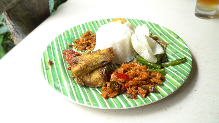 A traditional rice dish is among the options available from various eateries found inside Taman Safari.