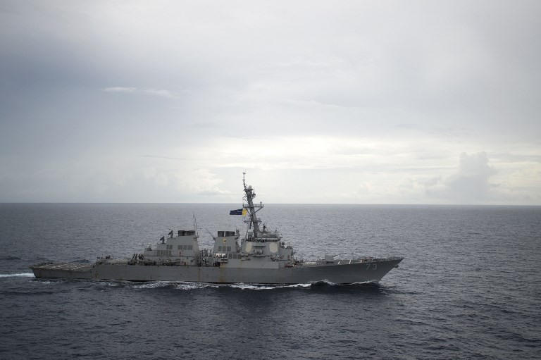 US warship sails near South China Sea area claimed by Beijing: Pentagon
