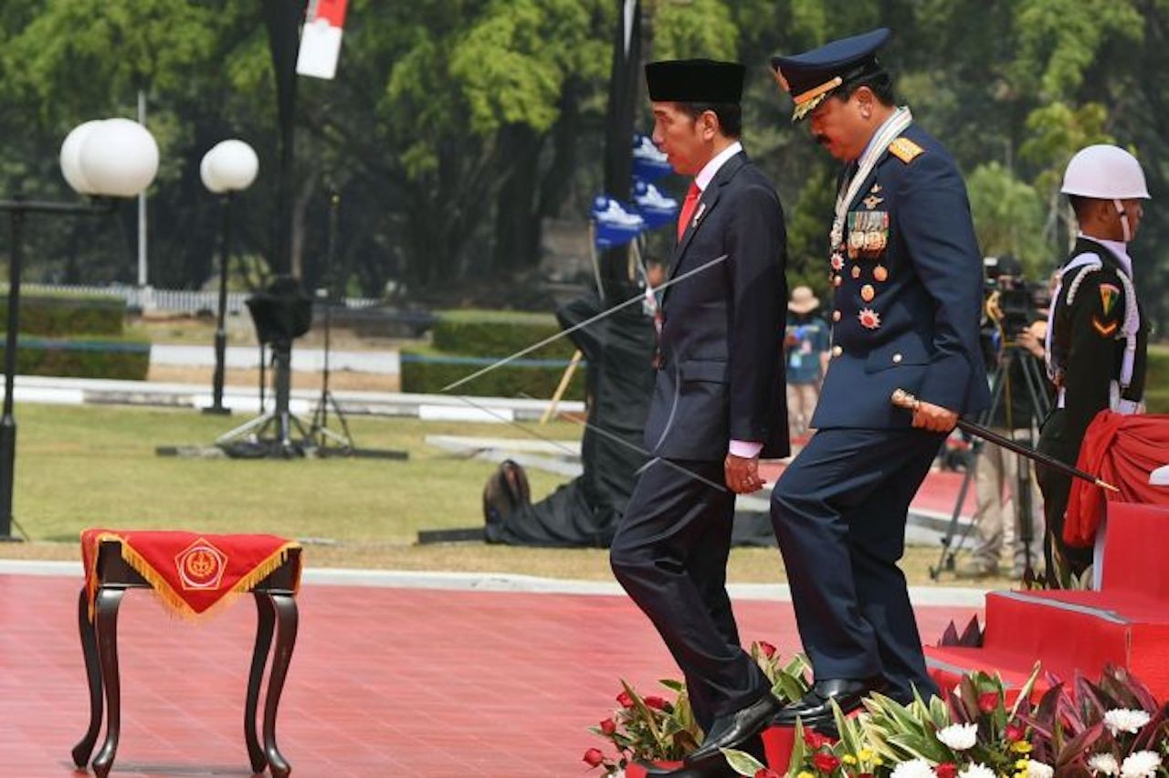 TNI must guard Pancasila, fight against communism: Jokowi