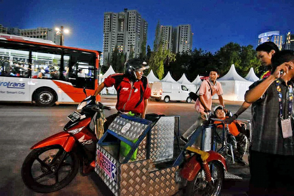 Asian Para Games: Motorcycle taxis for disabled ready to transport athletes, spectators