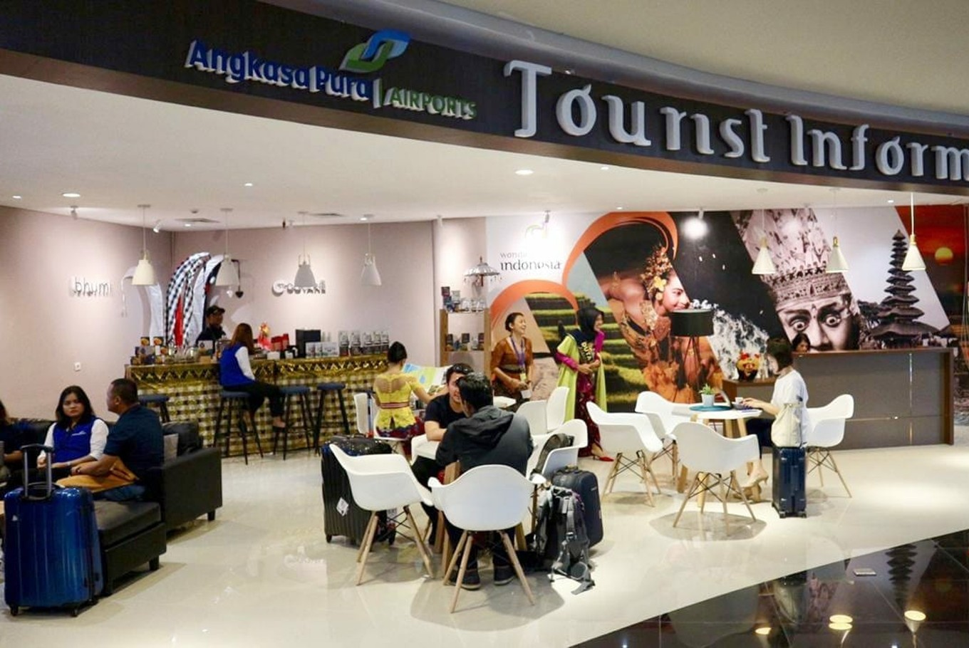 Information center, special facilities welcome delegates at Bali airport