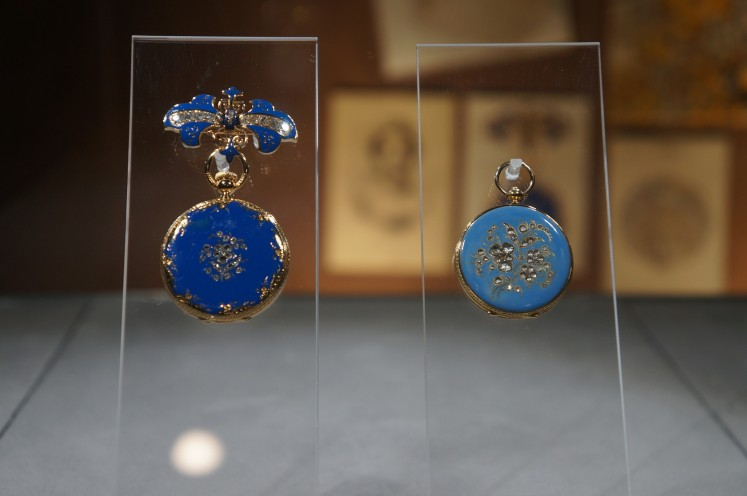 Queen Victoria's Pendant Watches were among the items exhibited at Patek Philippe's launch event on Wednesday, Oct. 10, in Milan, Italy. Queen Victoria was among the brand's customers. She purchased this timepiece in blue enamel in 1851.