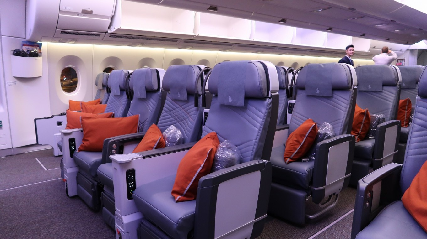 Premium Economy Class on the A350-900 ULR aircraft.