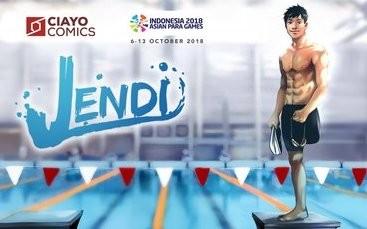 'Jendi' from CIAYO Comics makes splash at Asian Para Games