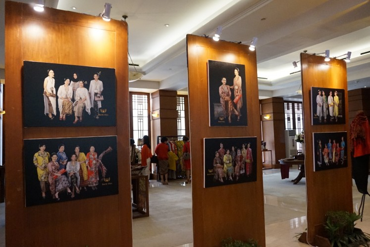 Some of the photos displayed at the exhibition as part of 'My Priceless Heritage - Batik, Identity & Legacy' event on Saturday, October 13, 2018 at Grha Bimasena, South Jakarta.