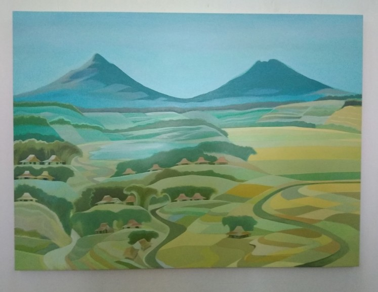 'Nuansa Alam Gunung Seribu di Selatan Gombong' (Scenery of a Thousand Mountains South of Gombong) by Arfial Arsad Hakim