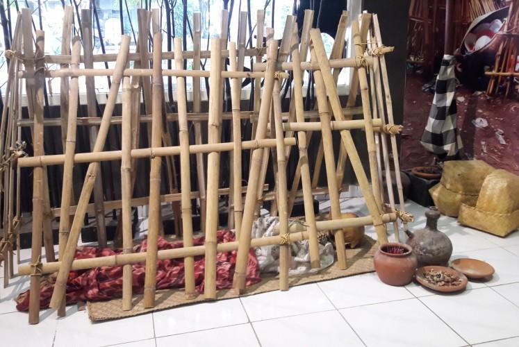 A replica of a funeral ritual in Trunyan village, Bali.