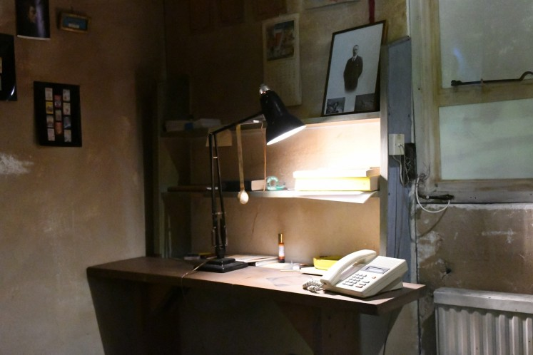 A picture shows author Roald Dahl's desk in a reconstruction of his writing hut at the newly renovated Roald Dahl Museum and Story Centre in Great Missenden, north-west of London, England on October 16, 2018.