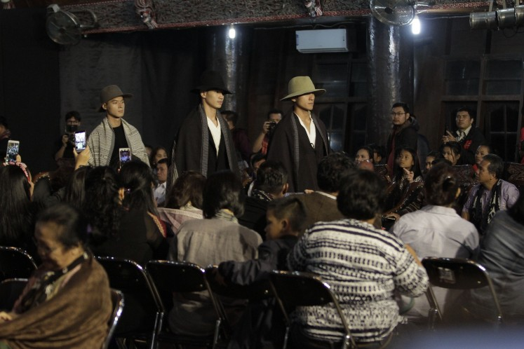Three models presented some of the collection at the festival's fashion show.