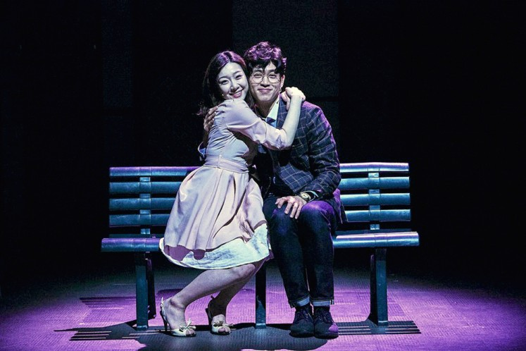 Together: A scene from Finding Mr. Destiny, one of the most popular musicals shown in Daehak-ro in Seoul.