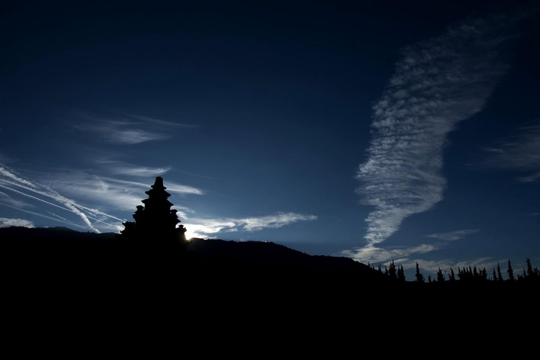 The silver sunrise seen from Arjuna temple in Dieng. JP/Tarko Sudiarno