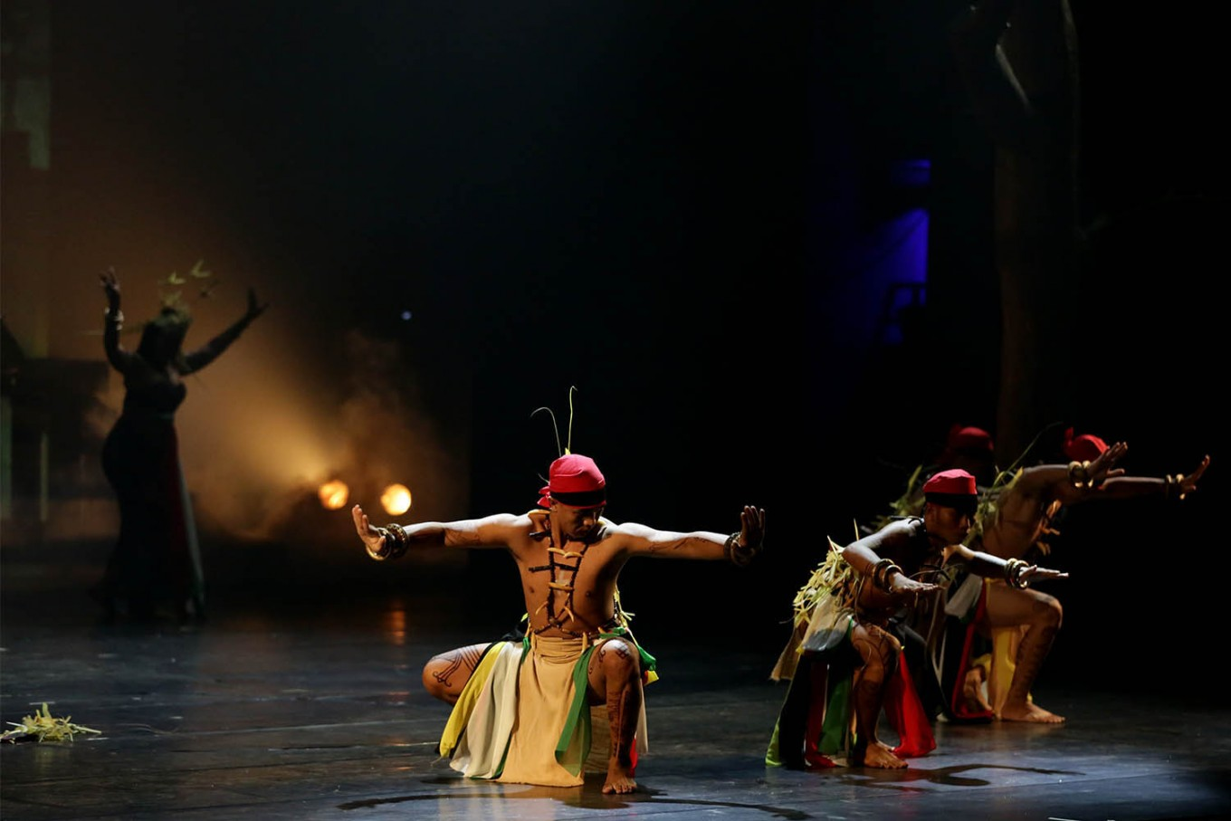 "Wadion Bawo and Gelang Dadas dancers perform during the ""human"" segment of the show. JP/Wienda Parwitasari"