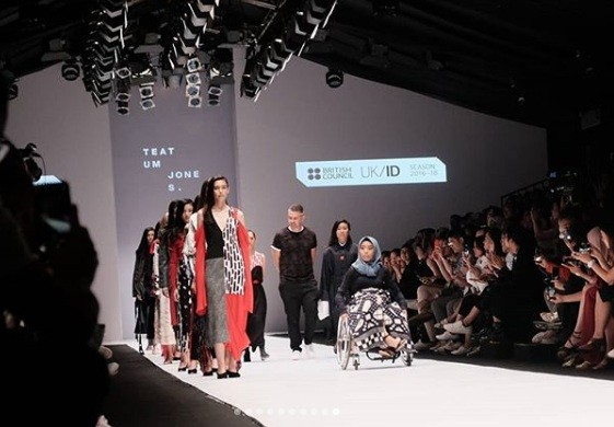 British Council's inclusive runway show stars disabled models