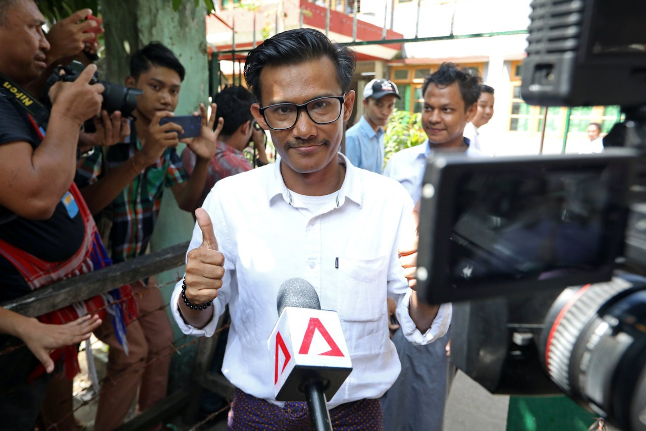 Myanmar court frees journalists on bail in incitement case