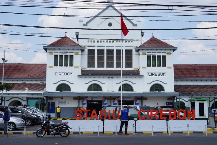 The Cirebon railway station.