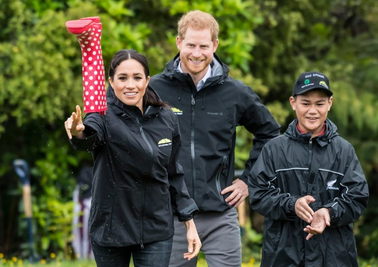 Meghan beats Harry at 'welly wanging' in New Zealand