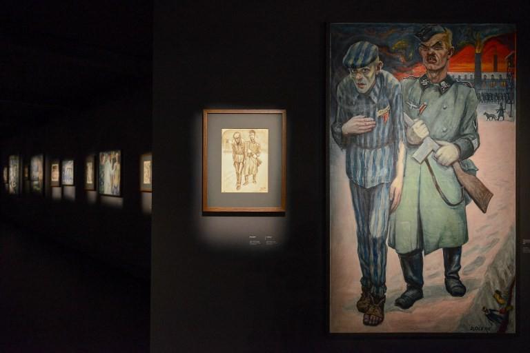 Auschwitz exhibits art of Jewish ex-prisoner