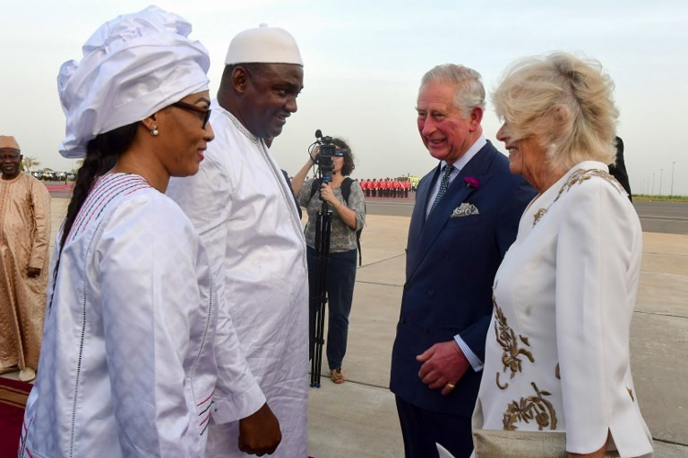 Prince Charles, Camilla start African tour in Gambia