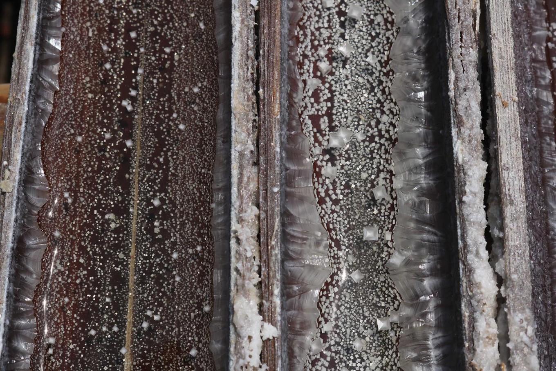 Crystallized salt in bamboos. JP/Maksum Nur Fauzan