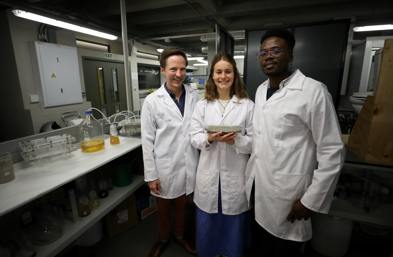 South Africans make bricks from human urine