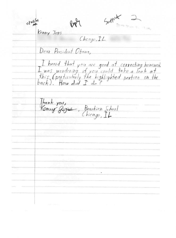 Letter written by Kenneth Jops