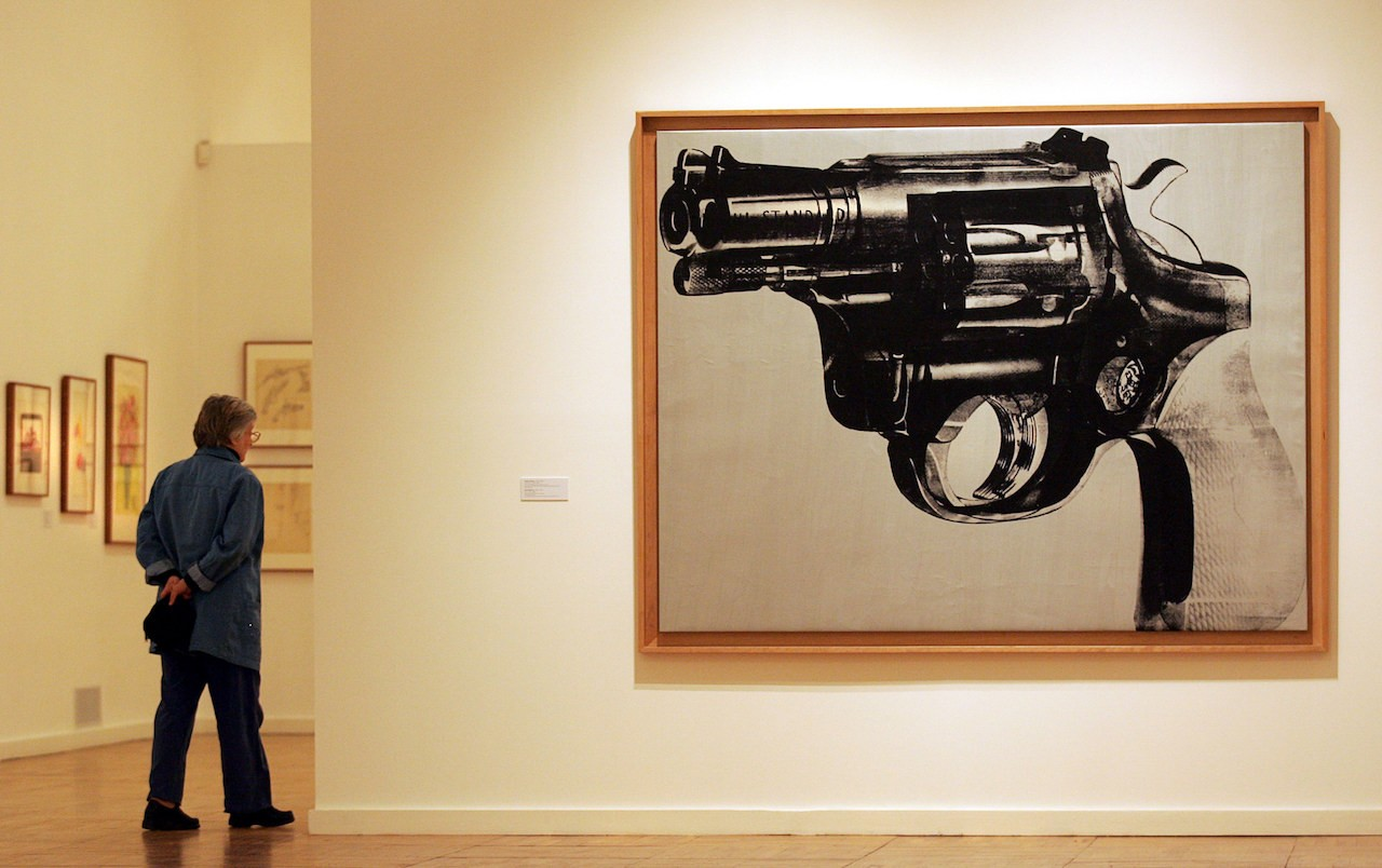 Warhol's `Gun' is said to be offered by star adviser at auction