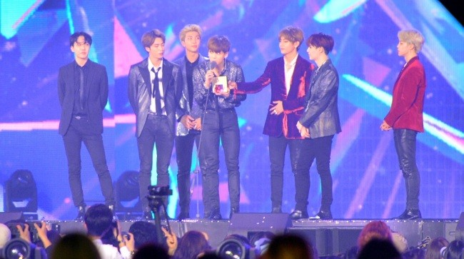 BTS wins Best Artist of the Year at 2018 MGA