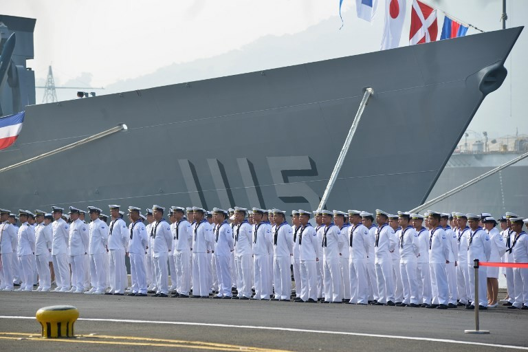 Taiwan navy gets two new warships as China tensions grow