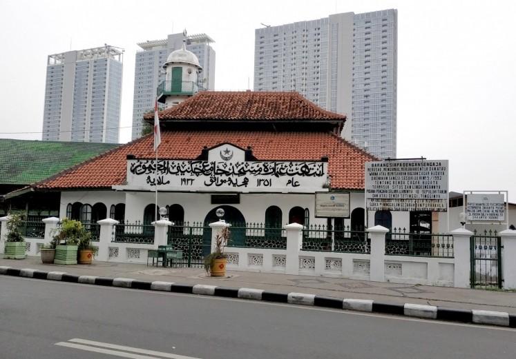 Masjid Jami Cikini Al Ma'mur is now Cagar Budaya DKI Jakarta (Jakarta Cultural Heritage).